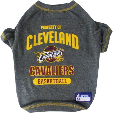 Pets First NBA Cleveland Cavaliers Pet Tee Shirt - Available in 4 sizes. Large, Medium, Small, X-Small, Multicolor