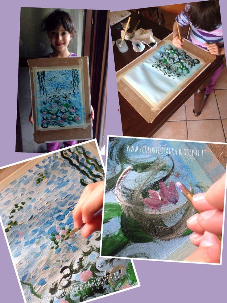 Come dipingere le ninfee di Monet...tutorial