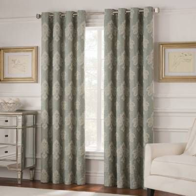 Valeron Belvedere Grommet Top Room-Darkening Window Curtain Panel - Bed Bath & Beyond