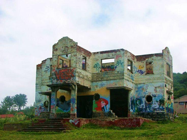 Near beach bums abandoned house