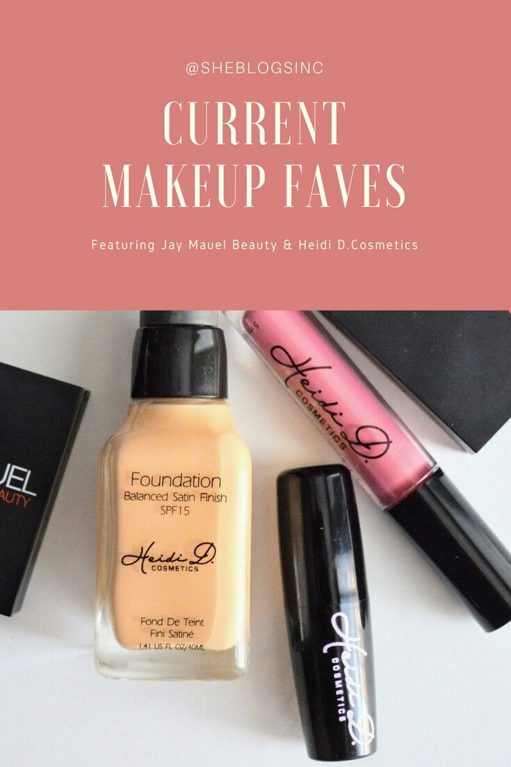 June current makeup beauty faves , feat Jay Manuel beauty and Heidi D. Cosmetic.