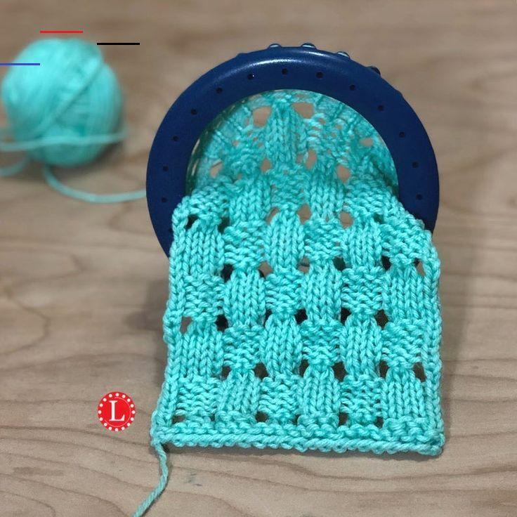 Loom Knitting PATTERNS : Acorn Stitch Eyelet Lace Stitch ...