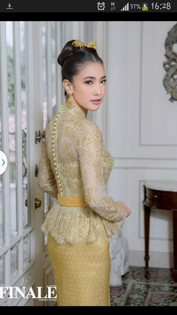 Thai silk traditional dress