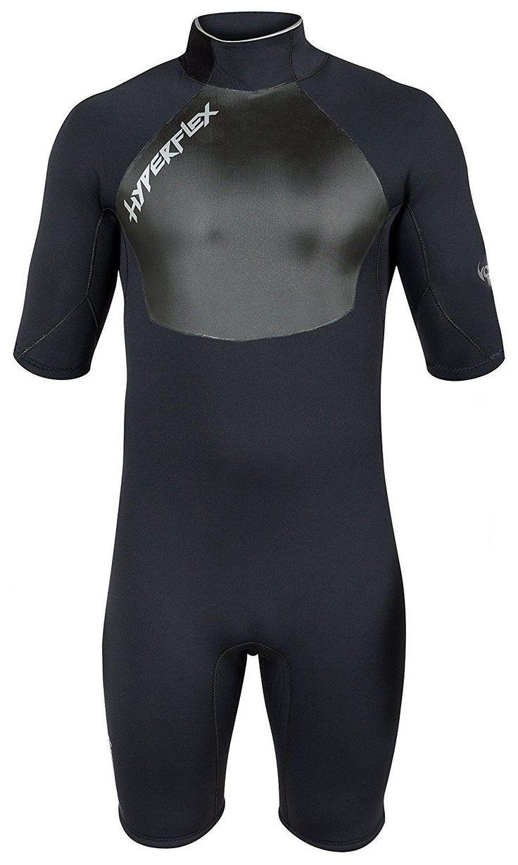 Hyperflex Wetsuits Men s Voodoo 2.5mm Long Sleeve Springsuit Black Medium