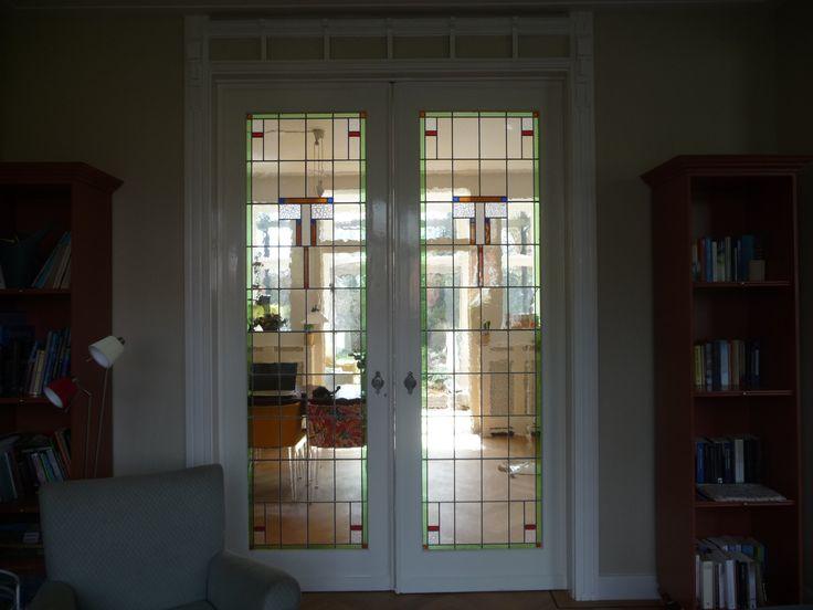 Kamer ensuite glas in lood
