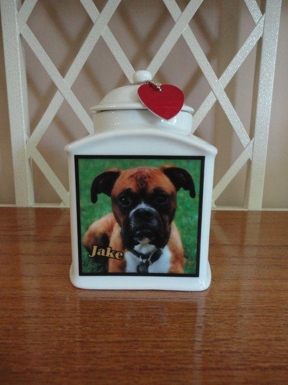 "Dog Urn, Memorial, Pet Urn, ""Personalized"", Cat, Pet, Photo Urn, Add Photo, Poem, Clipart, Name, Dates, Sentiment"