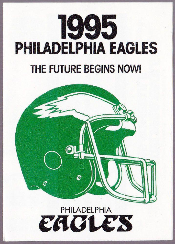 1995 PHILADELPHIA EAGLES MELLON BANK FOOTBALL POCKET SCHEDULE FREE SHIPPING #Pocket #SCHEDULE