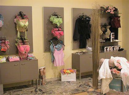 Paneles de sistema botones redondos para la instalación de tiendas de lencería. www.shelf2000.es