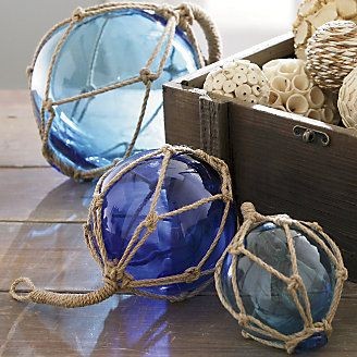 Set of 3 Buoyant Glass Balls | www.countrydoor.com