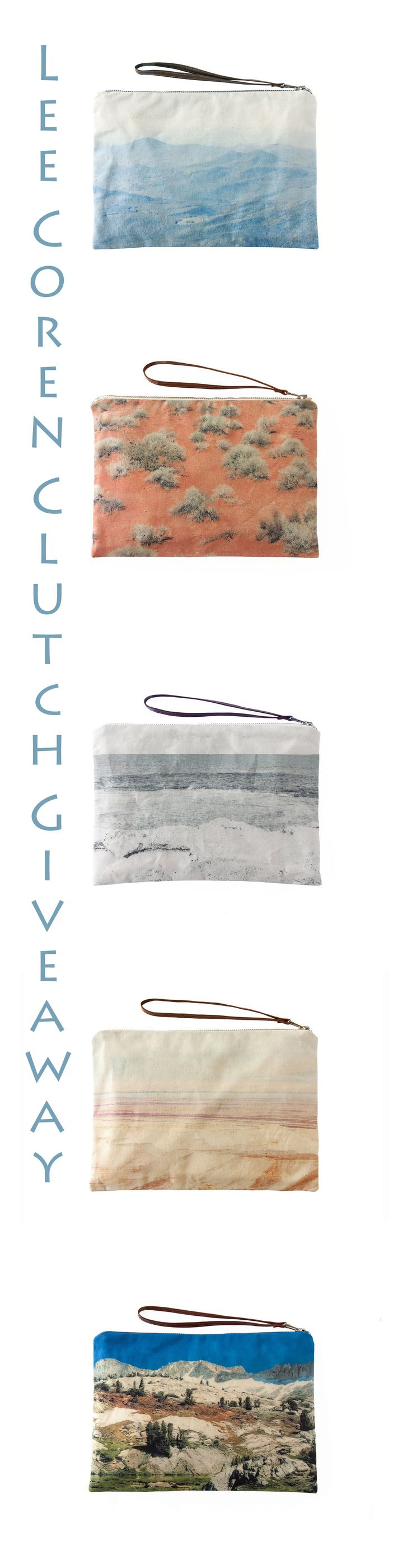 Thought & Sight giveaway: Enter to win a gorgeous Landscape Clutch from Lee Coren Studio!