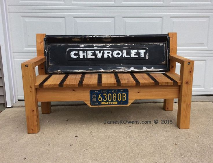 Tailgate bench for Dale. 1950 Chevy truck tailgate.                                                                                                                                                                                 More