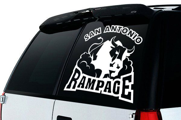 San antonio rampage inspired car window decal hockey car sticker window decal car