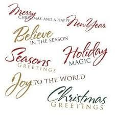 Resultado de imagen de christmas greeting words collage sheet