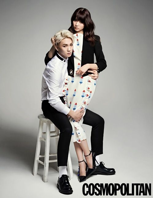 Key Gets Close and Physical with Virtual Wife Yagi Arisa for Cosmo | Soompi