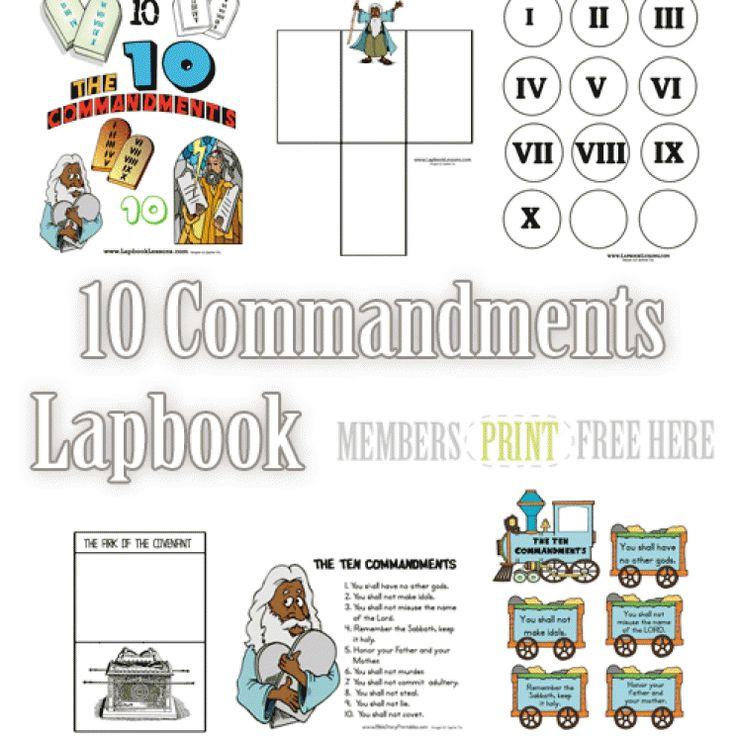 preschool 10 commandments games free