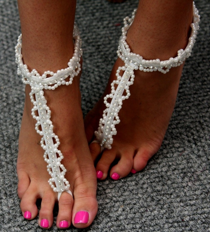 Bridal Sandals made for a Beach Wedding by Stephen Van Belkum at Stephward Estate