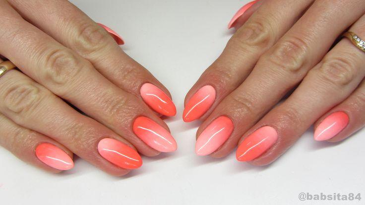Neon Gradient Nails - NeoNail -Playa Bonita & Lotus Flower- jak cieniowa...