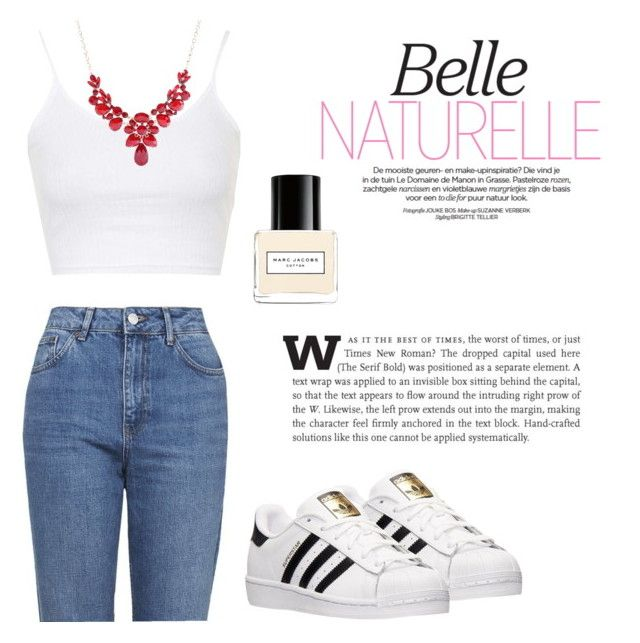 Belle naturelle by betti-nyilas on Polyvore featuring polyvore, fashion, style, Topshop, adidas, Marc Jacobs, women's clothing, women's fashion, women, female, woman, misses and juniors