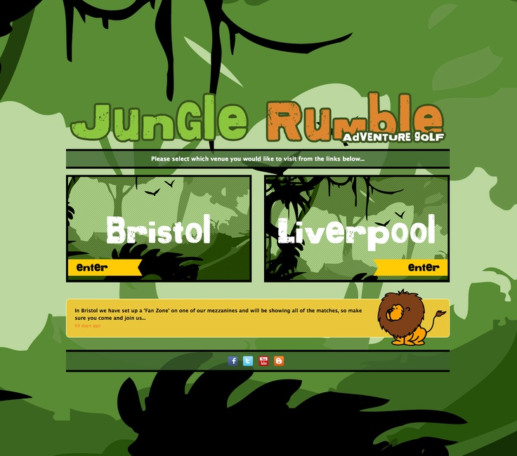 Jungle Rumble operate indoor crazy putting centres in England, fatBuzz created this site for them.  http://junglerumble.co.uk/