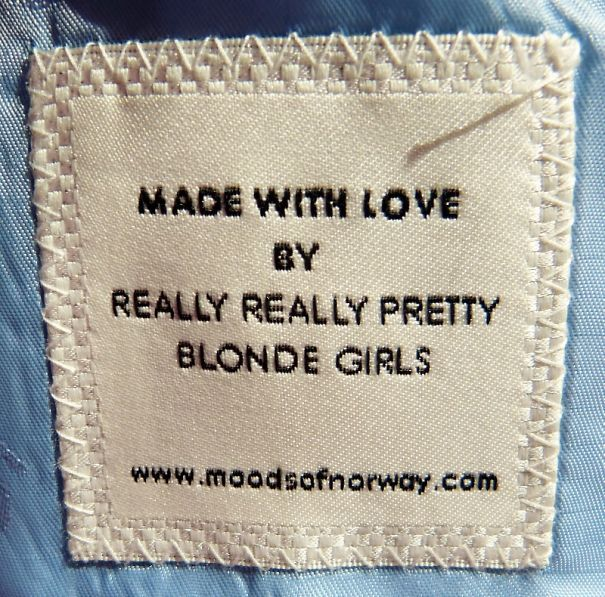 Funny clothing tag.                                                                                                                                                     More