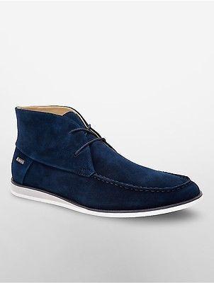 Calvin Klein Mens Kenley Suede Chukka Boot Shoe