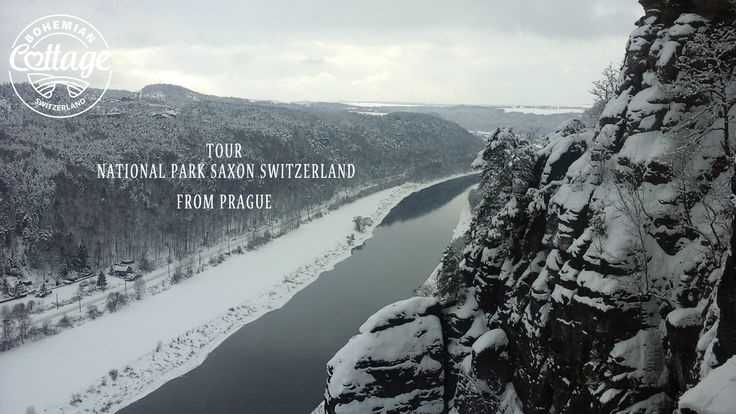 Tour from Prague to National park Bohemian Saxon Switzerland in winter