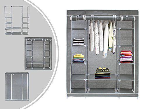 LEOGREEN – Armadio guardaroba di sistemazione in tessuto – colore grigio – XXL 134 x 43 x 172 cm  http://www.mobilionline.info/shop/mobile-da-camera-da-letto/armadio/leogreen-armadio-guardaroba-di-sistemazione-in-tessuto-colore-grigio-xxl-134-x-43-x-172-cm/  #armadio #guardaroba #mobili