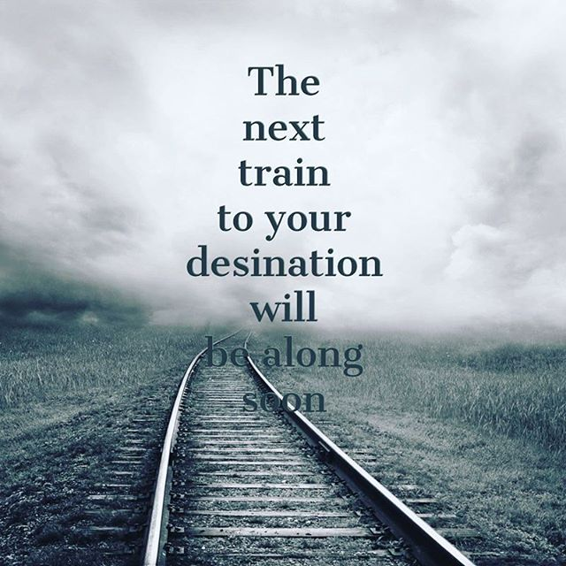 Instead of  beating myself up with regards to missed opportunities. ...the next  train will be here soon. #opportunity #sparkmade #colourmyworld