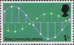 British Post Office Technology 1s Stamp (1969) Telecommunications - Pulse Code Modulation