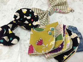 handkerchief folded into a ribbon!