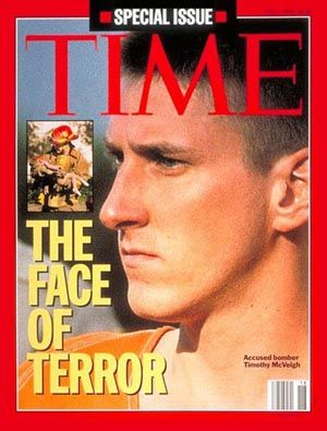 The Oklahoma City bombing (April 19, 1995) at the hand of Timothy McVeigh  Many believed he chose the date April 19 because it was the 2 year anniversary of the Waco Incident.