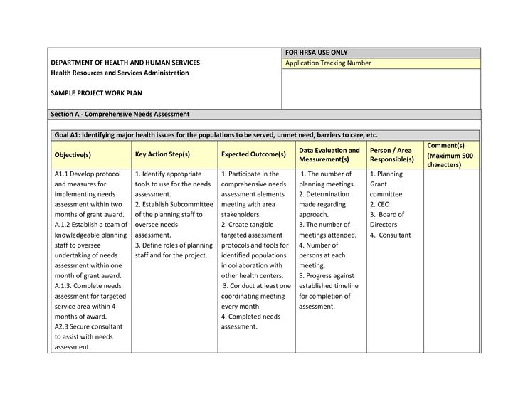 Get Project Work Plan Template In Xls Management Templates - sample work plan