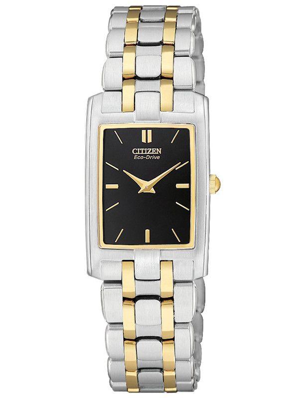 Citizen EG3184-50E Women's Stiletto Black Dial TT Quartz Watch