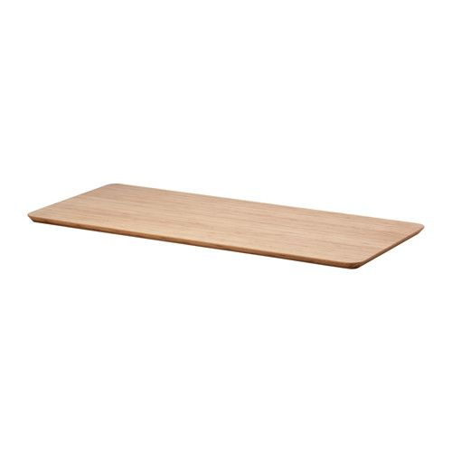IKEA - HILVER, Table top, , Pre-drilled leg holes for easy assembly.</t><t>Surface made from bamboo, a durable, renewable and sustainable material.