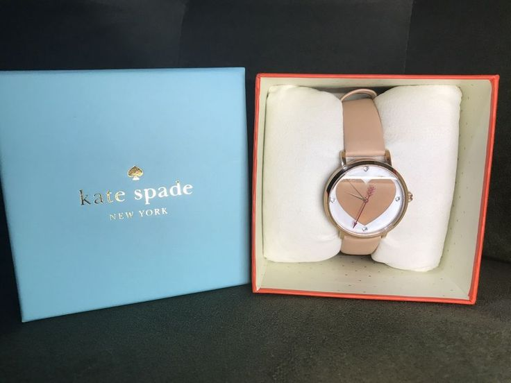 Kate Spade New York Metro Heart And Arrow Watch Rose Gold And Leather   | eBay