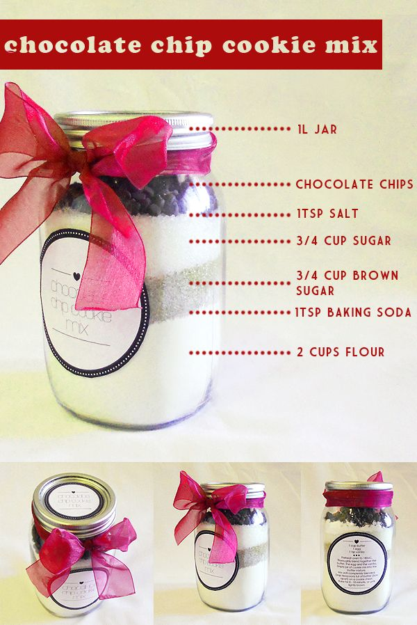 cookie mix in a jar!
