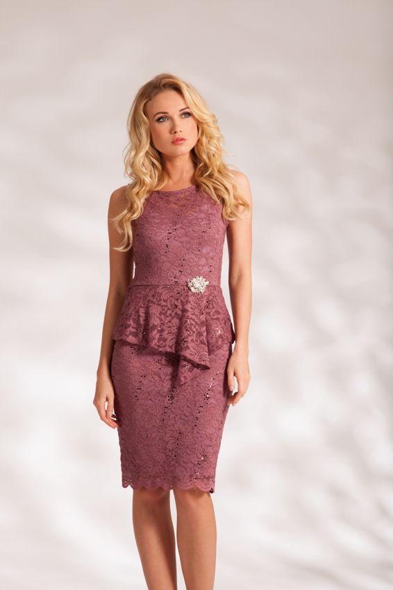 Robe de soiree rose argent