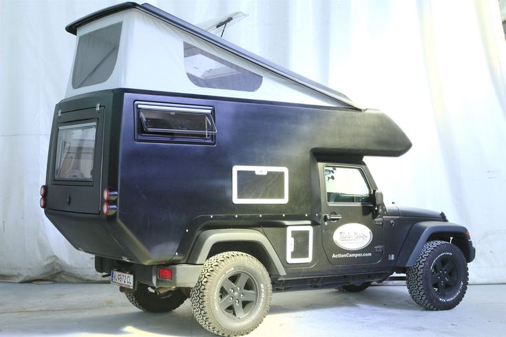 jeep actioncamper expedition ready slide on camper jk wrangler unlimited by thaler design. Black Bedroom Furniture Sets. Home Design Ideas