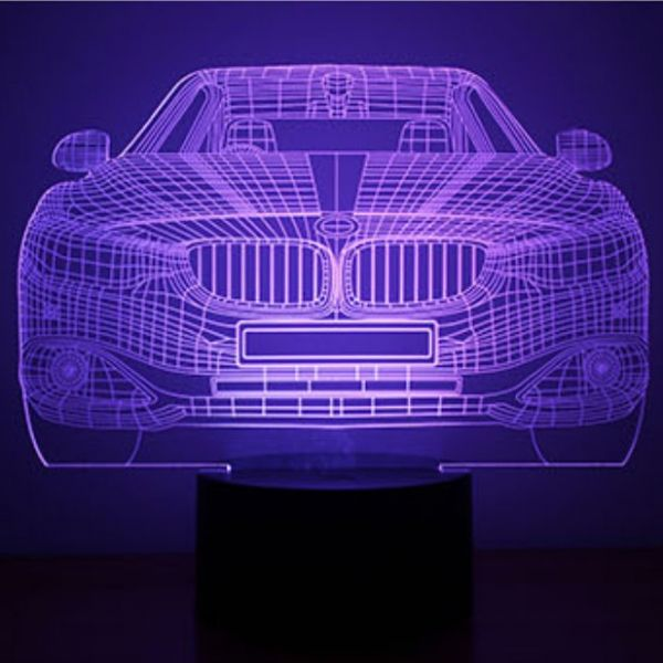 Car Pattern 3d Illusion Design 7 Color Led Night Light For Kids Led Night Light Led Color Night Light