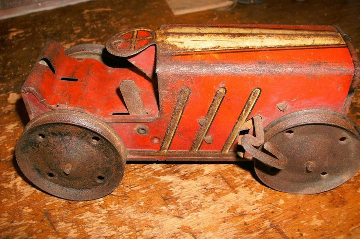 Old Tractor Keys : Antique marx wind up tin toy red tractor w key tractors
