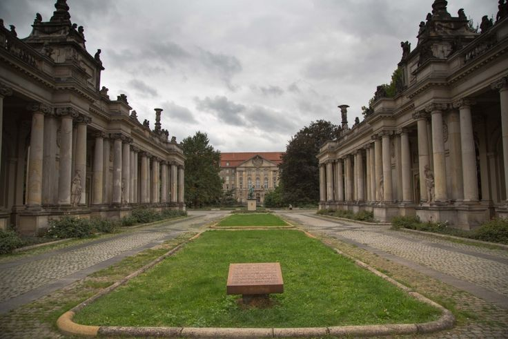Heinrich-von-Kleist Park Berlin Schöneberg - A great park - the Courthouse in the background was used to hold the Nazi showtrials and the columns on the sides used to be located at Alexanderplatz - really interesting history