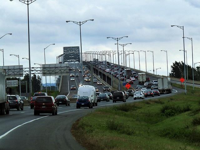 Hamilton, Ontario - Skyway Bridge by danvilar, via Flickr (doesn't it look like Auckland?)