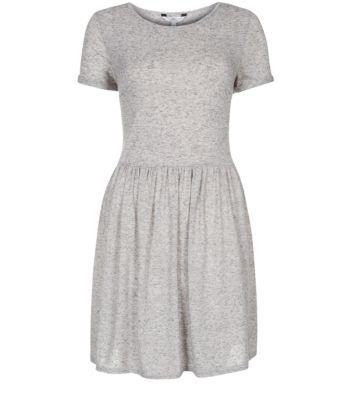 Light Grey Speckled Skater Dress