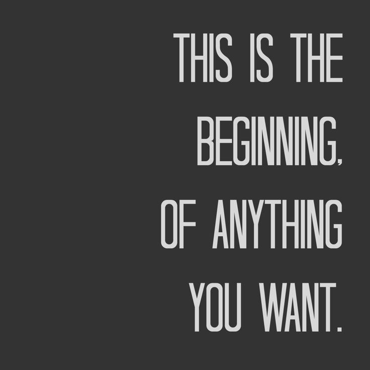 Beginning. New Years quote: