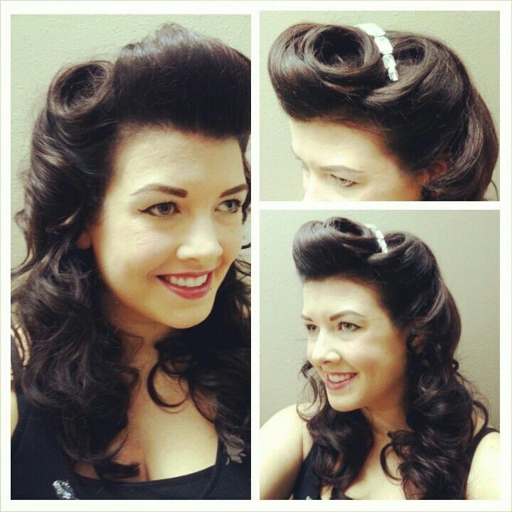 Vintage hairstyle.  Pinup.  Pinup hairstyle