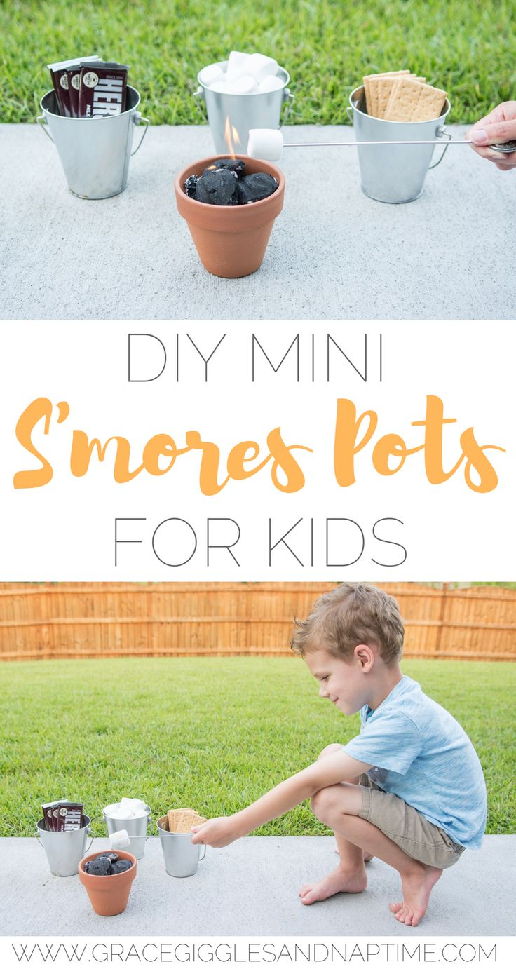 DIY Mini S'mores Pots for Kids