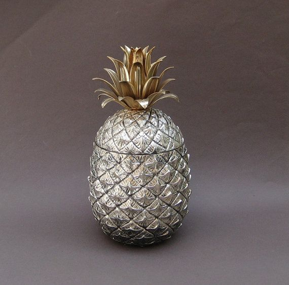 Italian Pineapple Ice Bucket - Mid Century Hollywood Regency - Italy