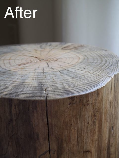 DIY ~ How to Make a Log Side Table!!