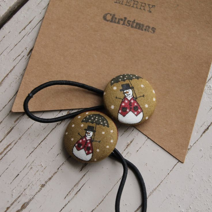 Christmas Hairbands, Snowman Hair Ties, Christmas Hair Accessories by FredandPepperShop on Etsy