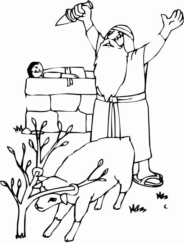24 Abraham And Isaac Coloring Page In 2020 Bible Coloring